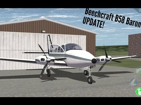 X PLANE 10 UPDATE!  The Beechcraft B58 Baron