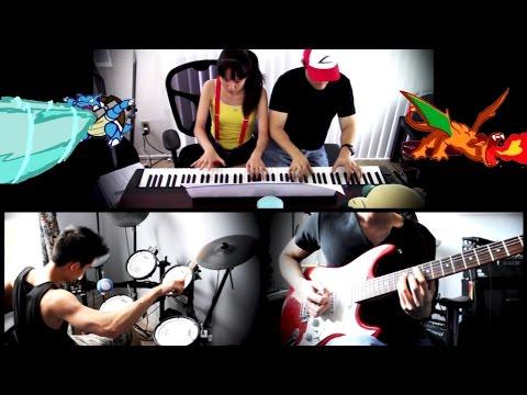 POKÉMON THEME SONG - Piano | Guitar | Drums - TRIO Cover ft. lilxsweetz & 3HeadedMonkey