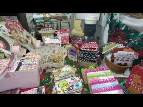 Craft Fair Booth Using Vintage Holders First Booth Set up for Christmas Sales, 2017