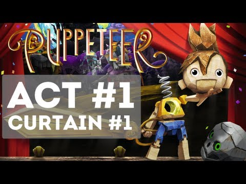 Puppeteer - Gameplay Story Walkthrough Part 1 - Act 1: Curta