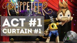 Puppeteer - Gameplay Story Walkthrough Part 1 - Act 1: Curtain 1 [HD] (Stolen Away)