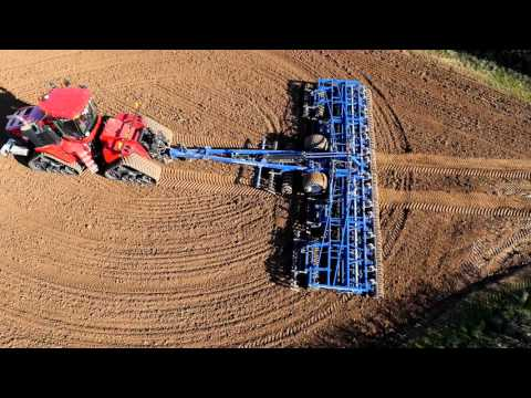 Dal-Bo RolloMaximum promo video 12 meter cultivator on a Case Quadtrac 580