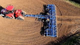 Dal-Bo RolloMaximum promo video 12 meter cultivator on a Case Quadtrac 580