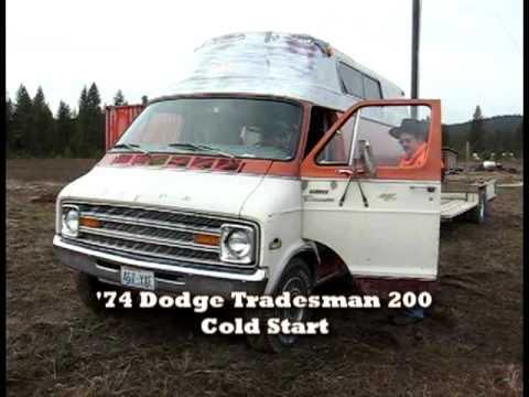 Cold Start 1974 Dodge Tradesman