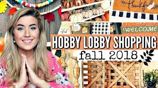 HOBBY LOBBY SHOP WITH ME FALL 2018 & BEST SALES OF THE YEAR!