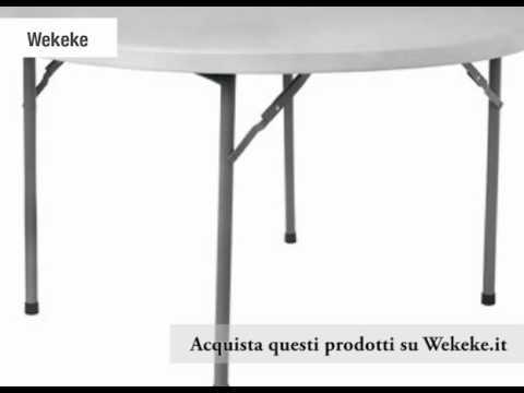 Tavoli Pieghevoli per Catering e Conferenze su Wekeke.it ! - YouTube