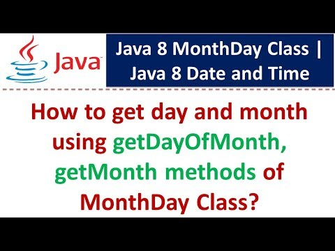 How to get day and month using getDayOfMonth, getMonth