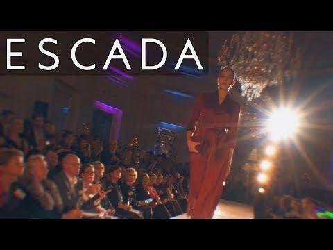Escada Luxury Evening Wear, Geneva Fashion Show!