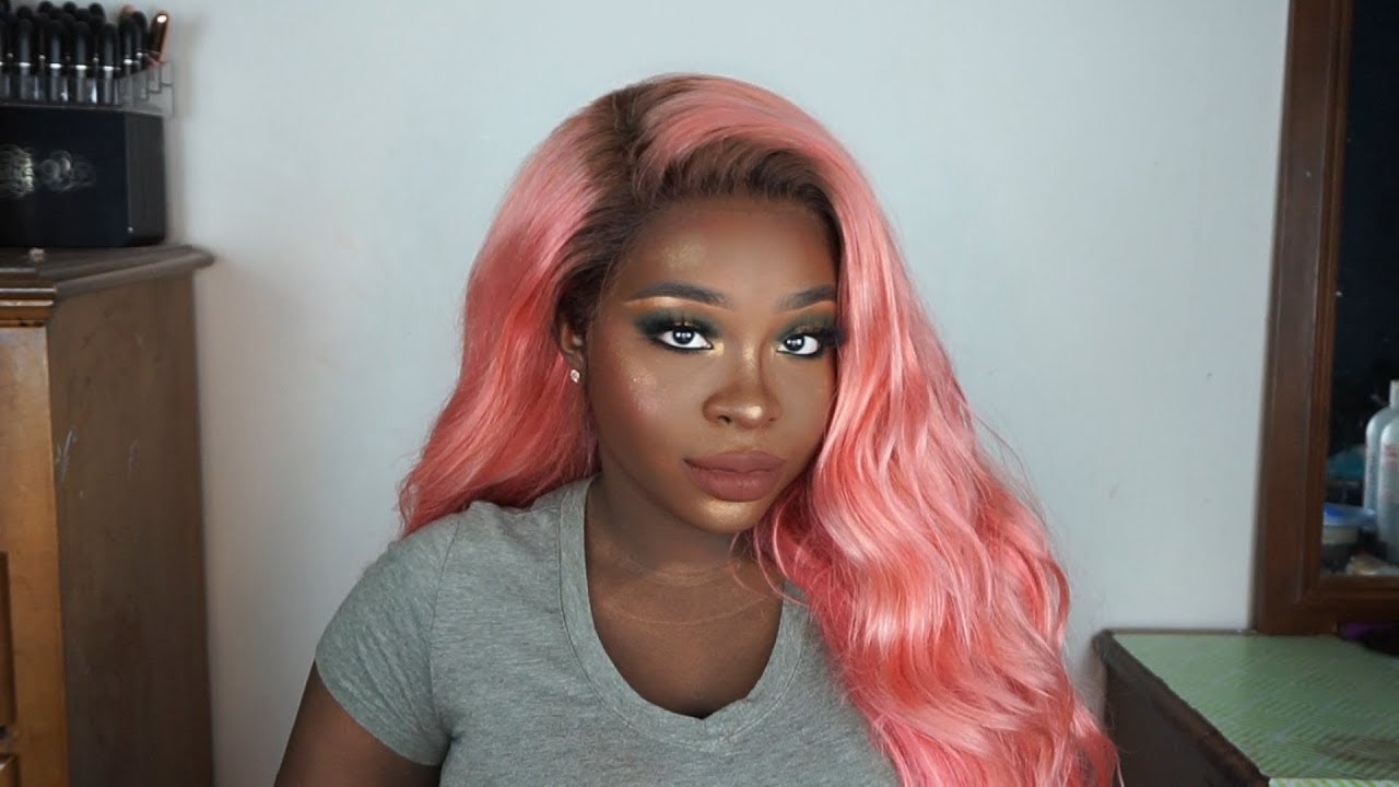 The Perfect Peachy Pink Rose Gold Hair For Dark Skin Gbemi Abiola Youtube