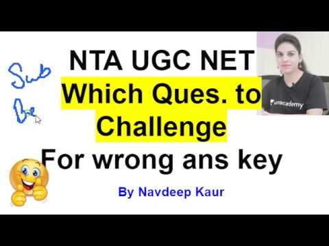which answer key to challenge NTA NET Dec 2018