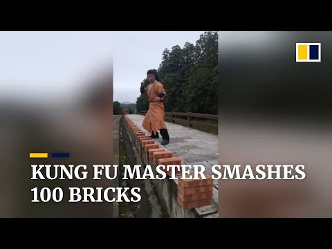 kung-fu-master-smashes-100-bricks-in-just-over-half-a-minute-in-china