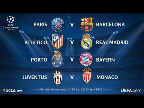 Sorteio das quartas de final da UEFA Champions League 2015