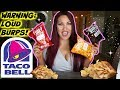 TRYING THE NEW TACO BELL CHIPS AND BURPING!
