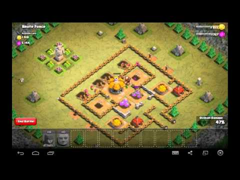 Brute Force - Town Hall Level 2 - 10 Archers, 4 Giants - Simple Clash Of Clans