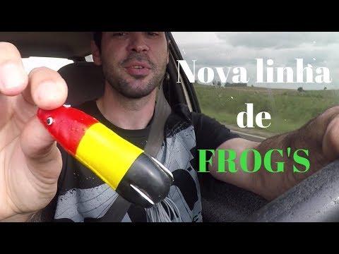 Nova linha de frogs na HOPLIAS PESCA. Frog Life. Pitão na isca e nova borracha.