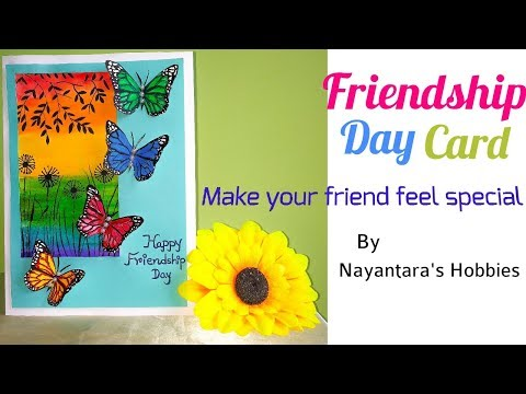 DIY Easy Friendship Day card | how to make card for friendship day