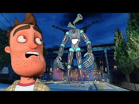 Do NOT Approach MECHA SIREN HEAD in Gmod!! (Garry's Mod Multiplayer Gameplay Roleplay) - Siren Head