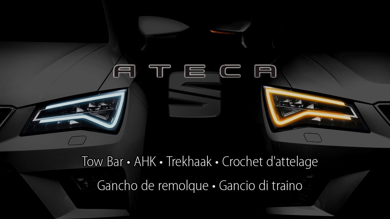 seat ateca tow bar ahk trekhaak youtube. Black Bedroom Furniture Sets. Home Design Ideas