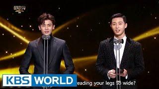 Download Mp3 Park Seo Joon Park Hyungsik from Hwarang presents an award