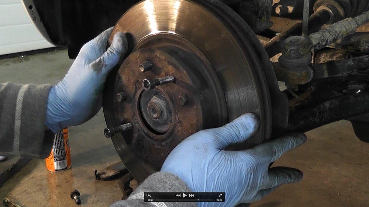 Suzuki SX4 Front Brake Rotors Disc Removal  YouTube