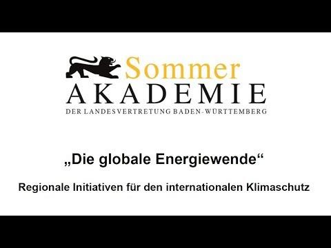 Die globale Energiewende - Sommerakademie 2017 - Panel 2