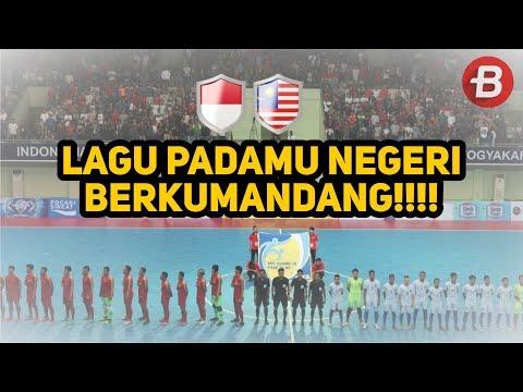 Piala AFF Futsal 2018 - Pemain dan Penonton Kumandangkan Lagu Padamu Negeri