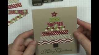 Easy Pattern Paper Christmas Tree Card