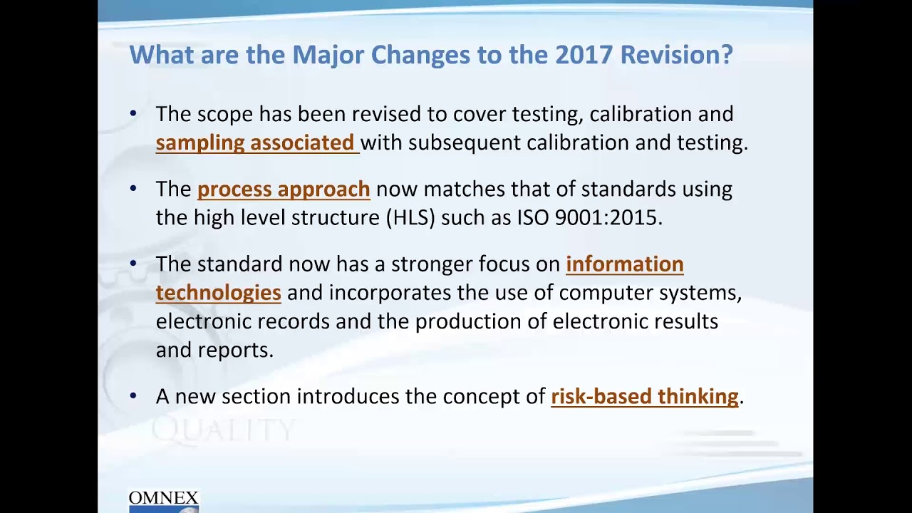 key changes and challenges in iso iec 17025 2017 youtube