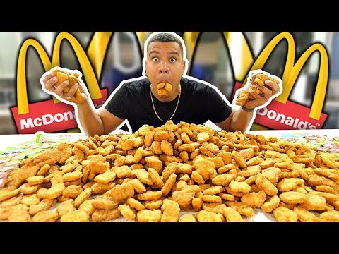 Thumbnail: INSANE 1000 MCDONALD'S CHICKEN NUGGETS CHALLENGE (IMPOSSIBLE) *200,000 CALORIES*