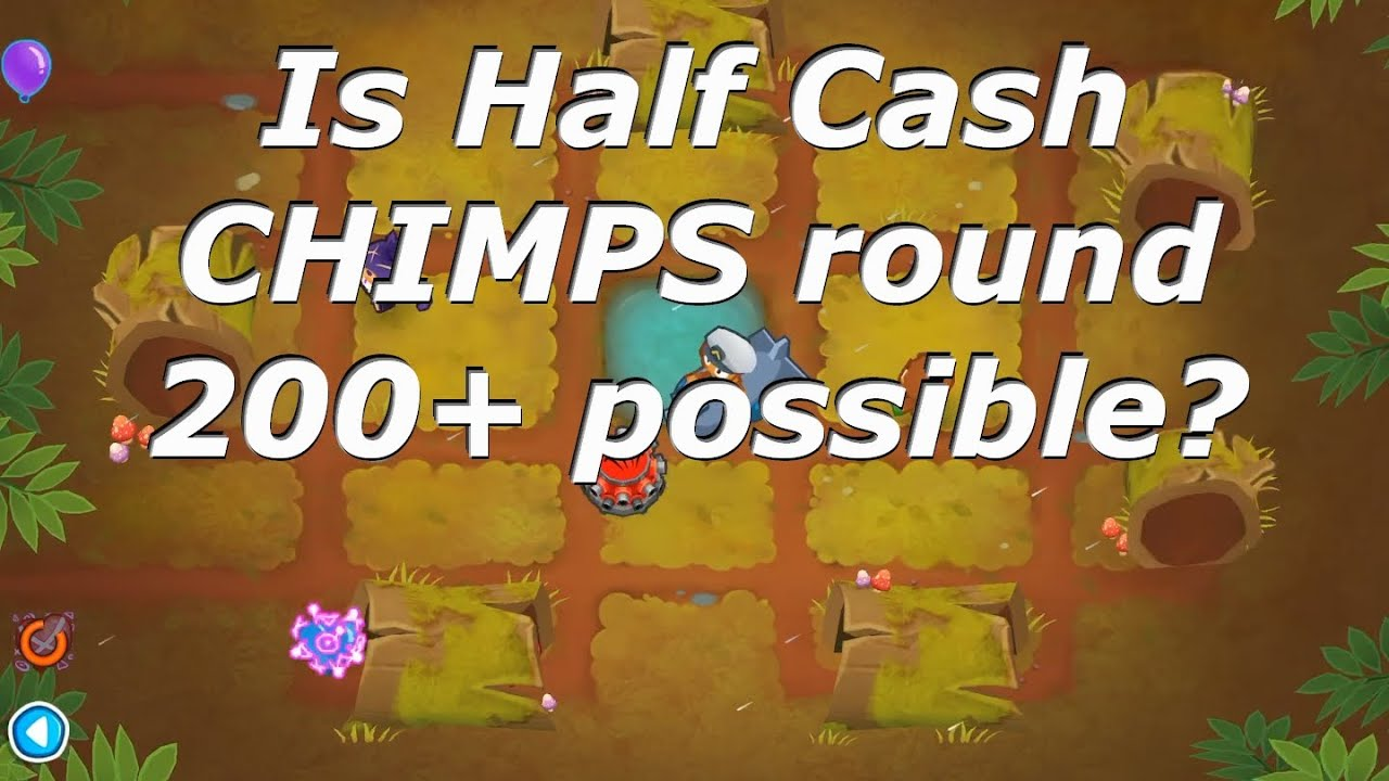 Bloons TD 6 - High round challenge in Half Cash CHIMPS! (BTD6 v9)