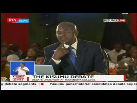The Kisumu debate: Kisumu gubernatorial debate (Full video)