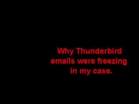 thunderbird freezing