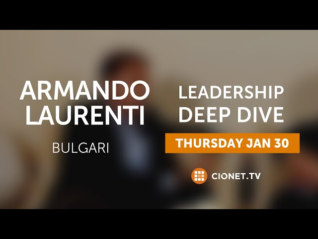THU – 30.01 – Armando Laurenti – CIO of BVLGARI