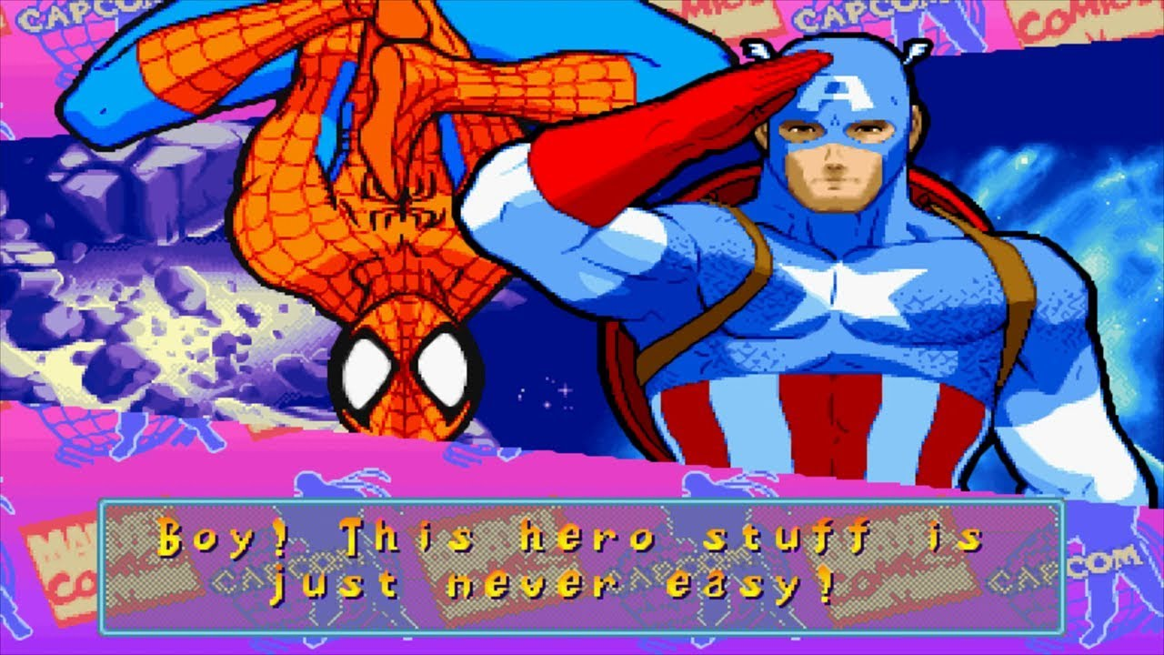 Marvel Super Heroes vs Street Fighter - Spider-Man/Captain America - Expert Difficulty Playthrough