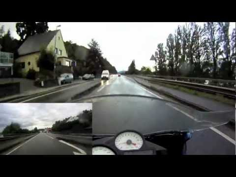 Rainy Ride on B42 - GoPro HD HERO 1090 - BMW K1200r Sport