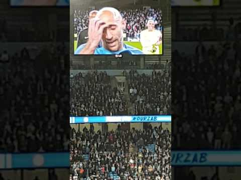 Pablo Zabaleta's last game send off