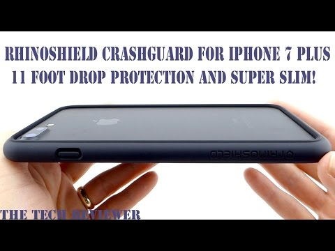 A Slim Bumper with 11 Foot Drop Protection?? Check out the RhinoShield CrashGuard for iPhone 7 Plus!