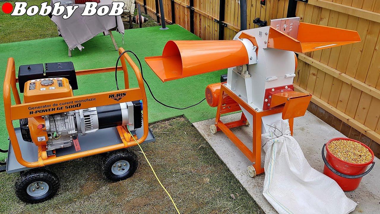 TEST generator 5kw cu moara de 3kw