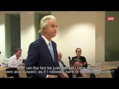 Final Statement Geert Wilders at his Trial, 23 Nov. 2016