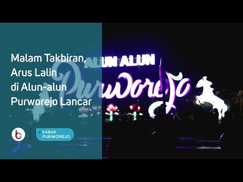 Malam Takbiran, Arus Lalin di Alun alun Purworejo Lancar