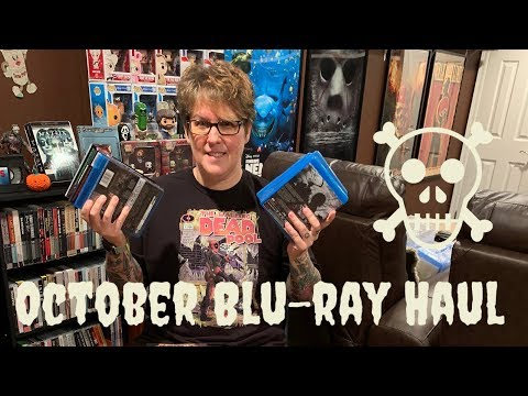 October Blu-ray Horror Haul - Scream Factory, Steelbooks, and More!!