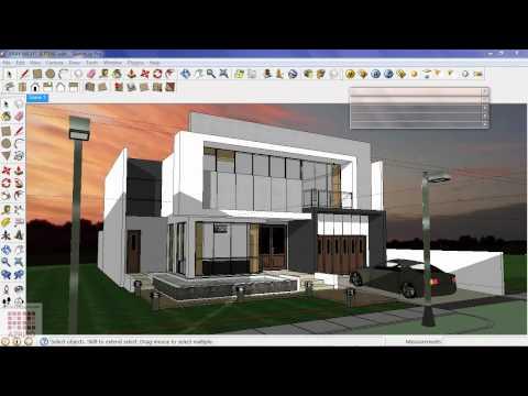 Google Sketchup-Tutorial 16-Vray Bangunan Malam Hari