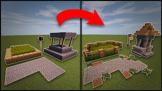 Minecraft: How To Remodel A Village - Well, Farms, Lamp Post, & Roads