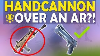 HANDCANNON OVER AR IN SOLO SHOWDOWN | DEAGLE FUN | HIGH KILL FUNNY GAME- (Fortnite Battle Royale)