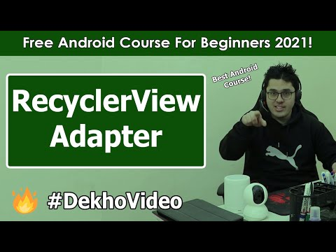Creating a RecyclerViewAdaper Class | Android Tutorials in Hindi #33 thumbnail