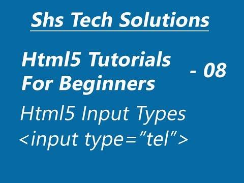 Html5 Input Type : Input Type Tel