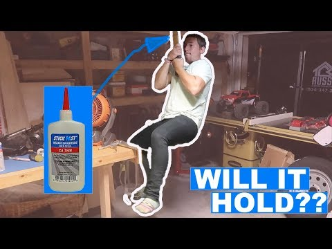 WORLDS STRONGEST SUPER GLUE!! CAN YOU PULL IT APART?? - YouTube