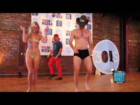 Bobby Bones and Laura Bell Bundy Strip for 30 Abes