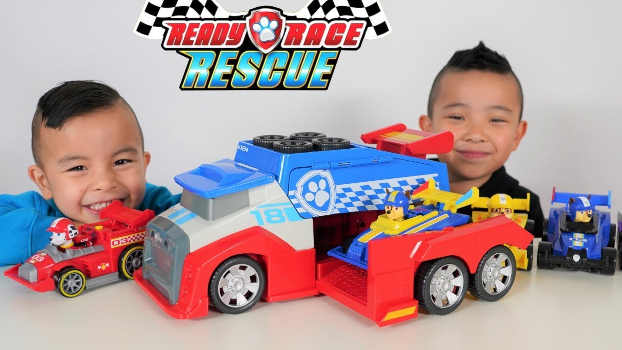 Ready Race Rescue Paw Patrol Mobile Pit Stop Vehicle CKN Toys