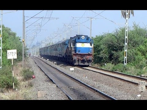 DOUBLE DIESEL FUN : Majestic ED ALCO Twins with Nagercoil - Mumbai CST Express : INDIAN RAILWAYS
